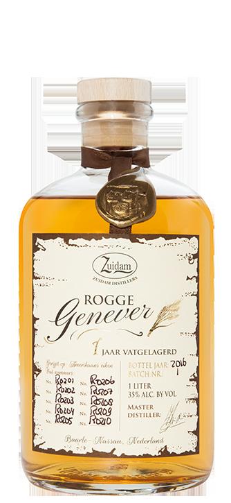 Zuidam Gin Rogge (rye) 1yo Genever 35% 6x100cl