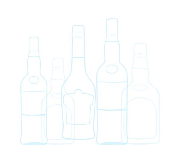 Hand drawn bottles